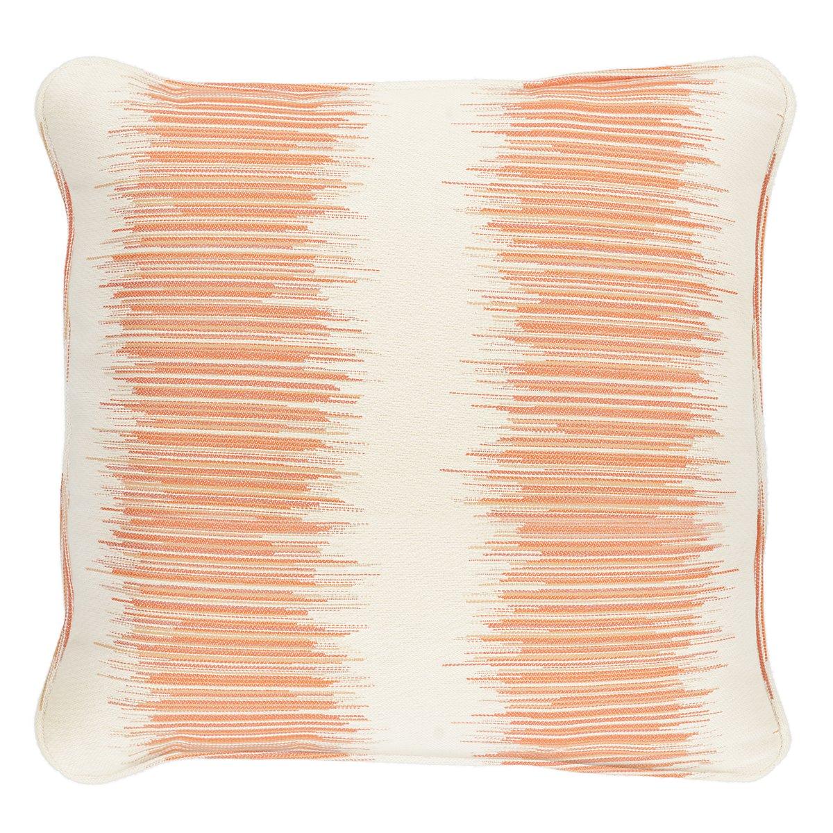 Impromptu Orange Fabric Accent Pillow