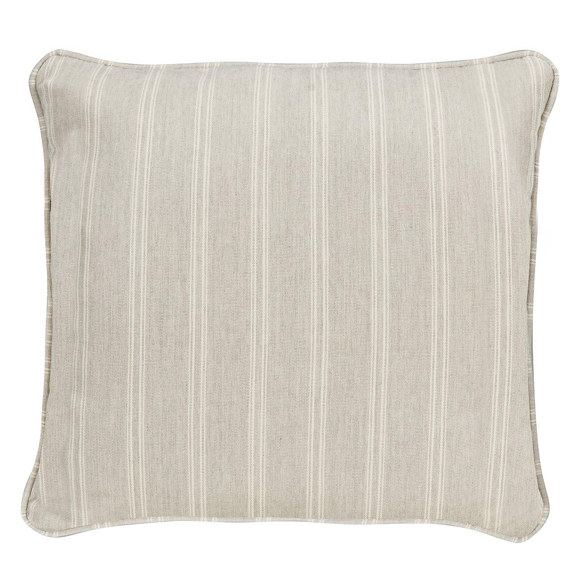 "Espadrille Light Gray Fabric 18"" Accent Pillow"
