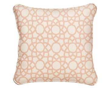"Sophisticate Light Orange 18"" Accent Pillow"