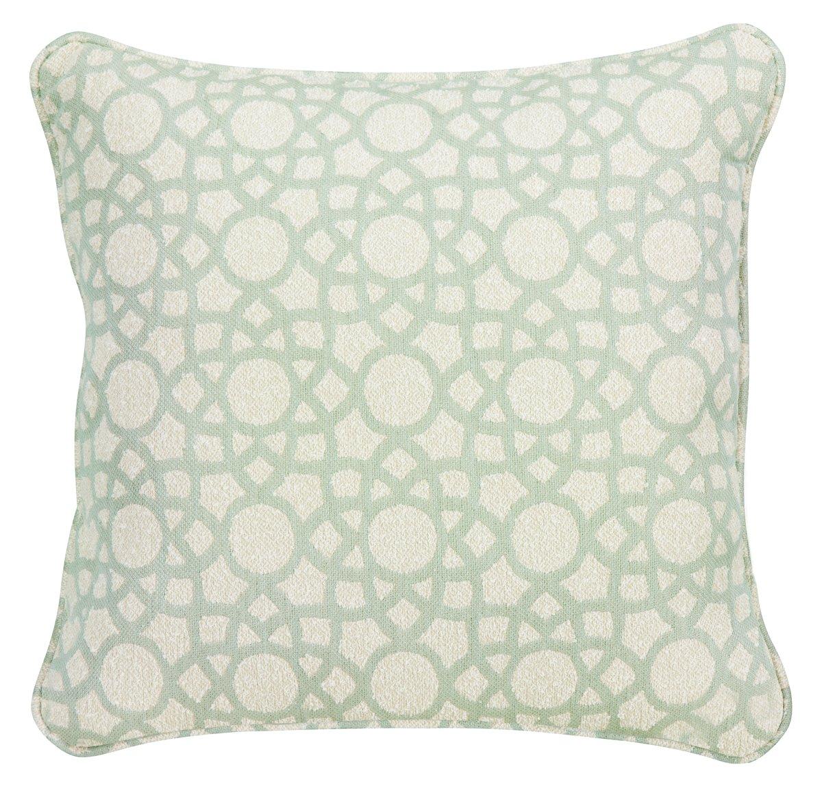 Sophisticate Light Green Fabric Accent Pillow