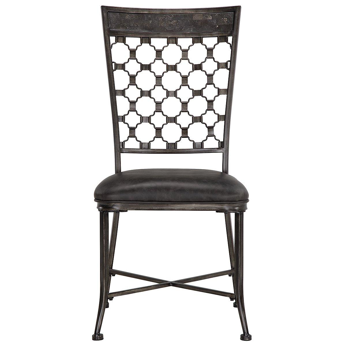 Brescello Dark Gray Side Chair