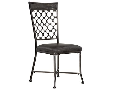 Brescello Dark Gray Side Chair