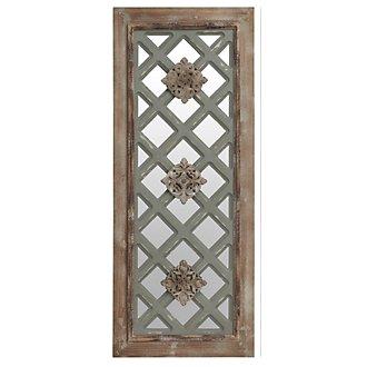 Meagan Mirrored Wood Wall Art