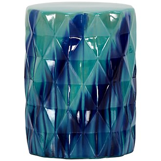 Reeta Dark Blue Accent Stool