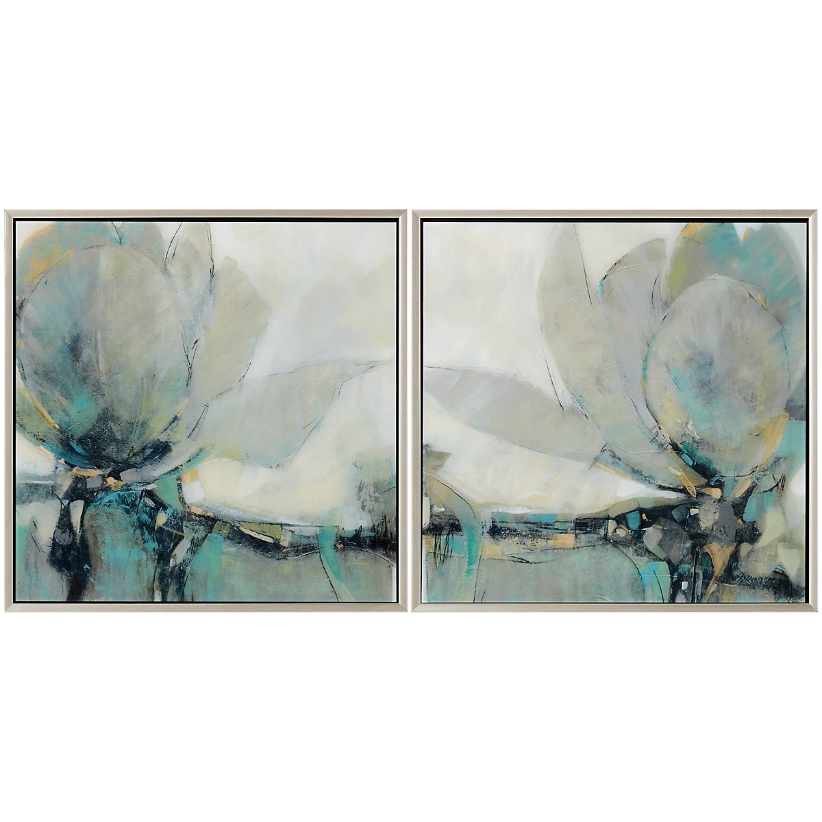 Carina Light Gray Set Of 2 Framed Wall Art