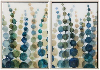 Serenity Multicolored Set Of 2 Framed Wall Art