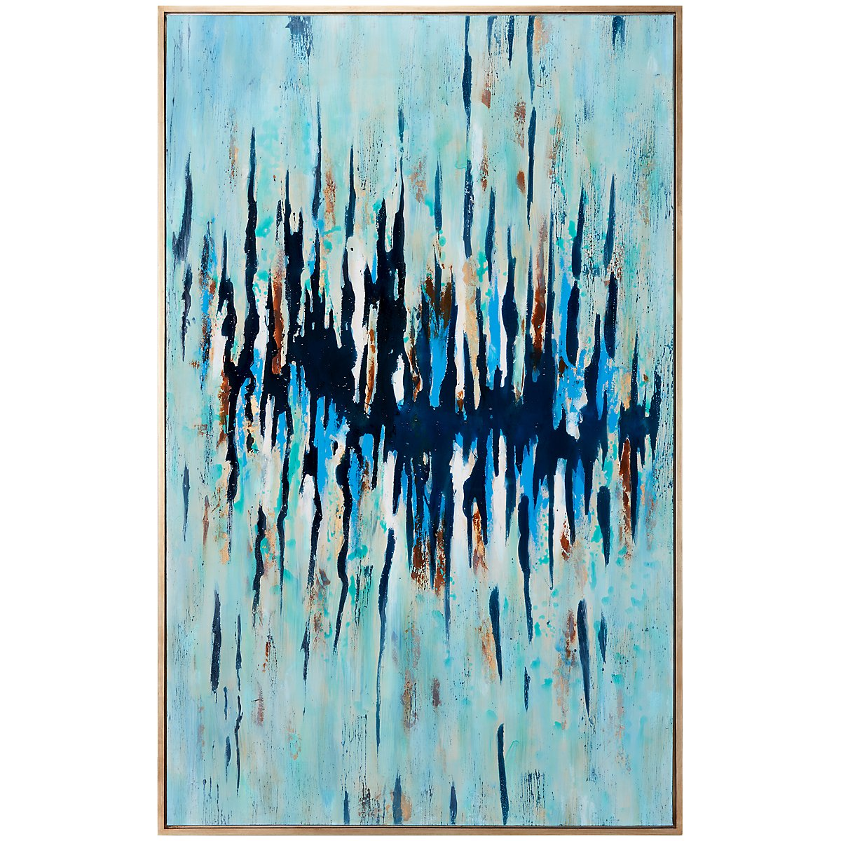 Enigma Light Blue Framed Wall Art