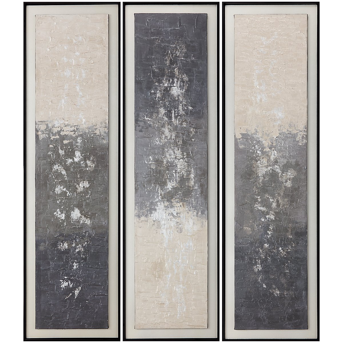Nordic Gray Set Of 3 Framed Wall Art