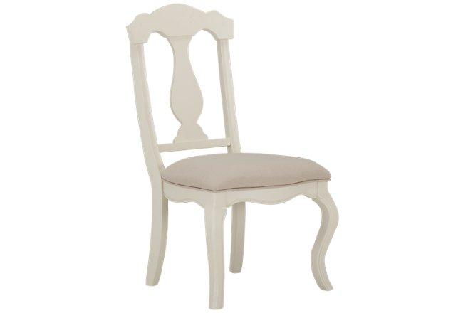 Charlotte Ivory Wood Chair