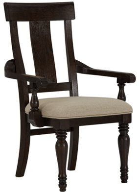 Sterling Dark Tone Wood Arm Chair