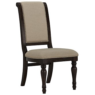 Sterling Dark Tone Upholstered Side Chair