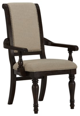 Sterling Dark Tone Upholstered Arm Chair