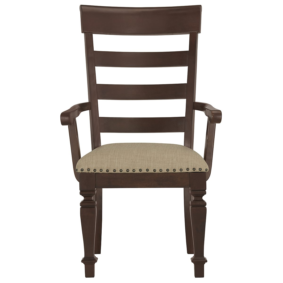 Emerson Dark Tone Wood Wood Arm Chair