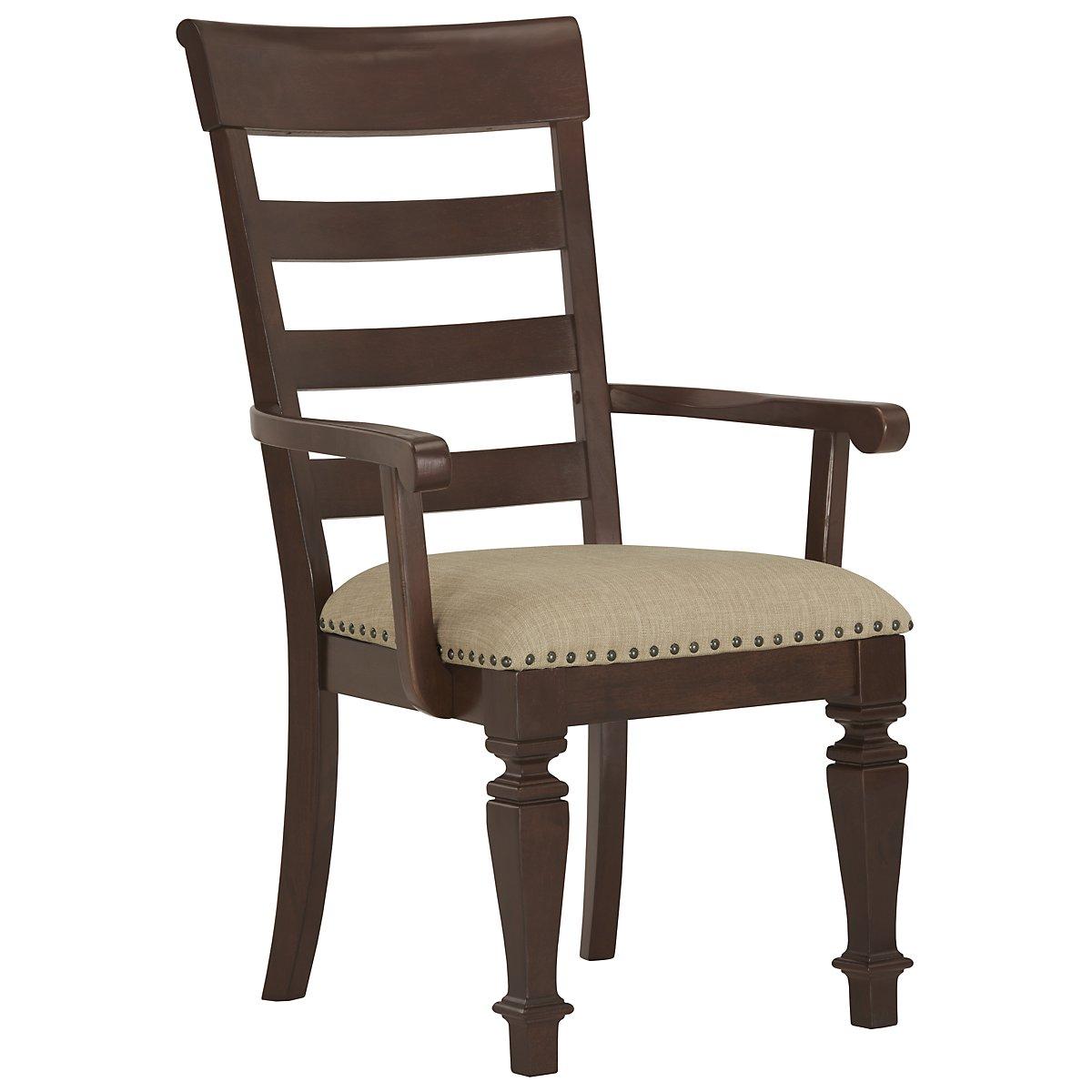 Emerson Dark Tone Wood Arm Chair