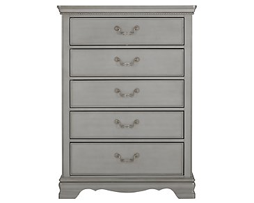 Jessica2 Silver Drawer Chest