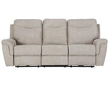 Boardwalk Pewter Microfiber Power Reclining Sofa
