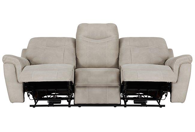 Boardwalk Pewter Microfiber Power Reclining Sofa