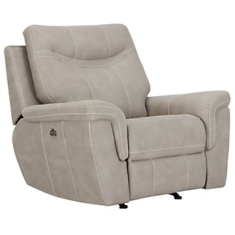 Boardwalk Pewter Microfiber Power Recliner