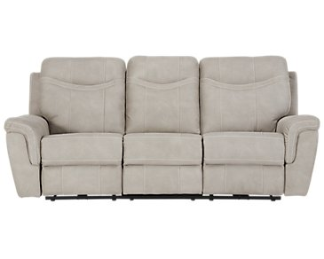 Boardwalk Pewter Microfiber Reclining Sofa