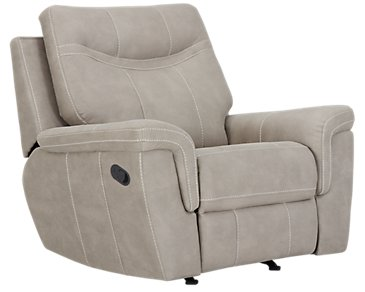 Boardwalk Pewter Microfiber Recliner