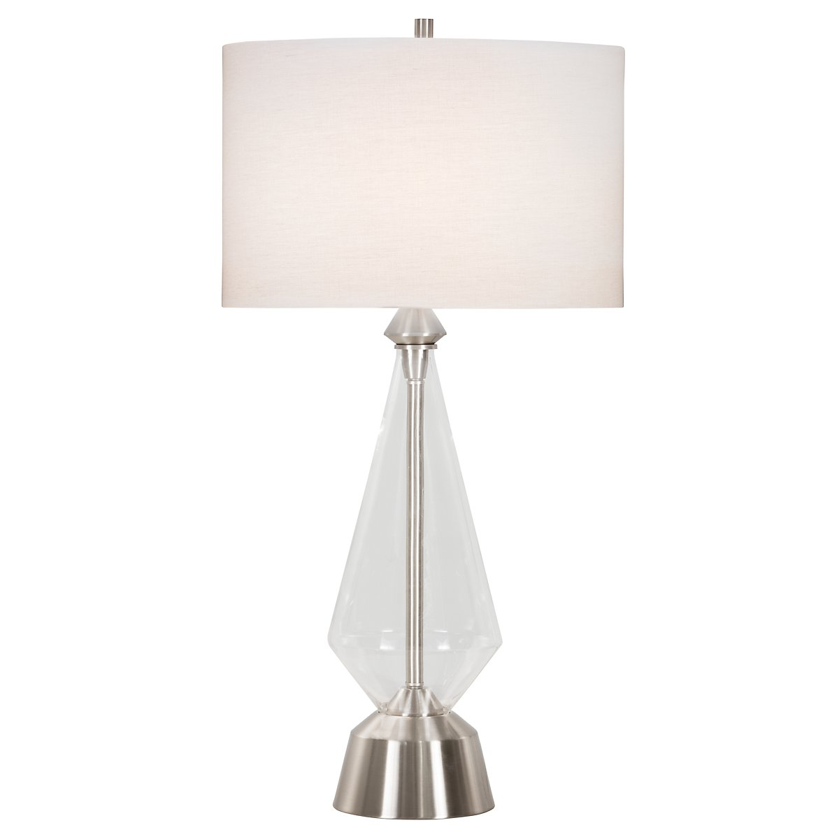 Bellini Clear Glass Table Lamp