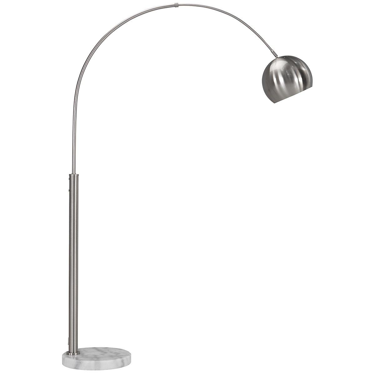 Basque Silver Arc Floor Lamp