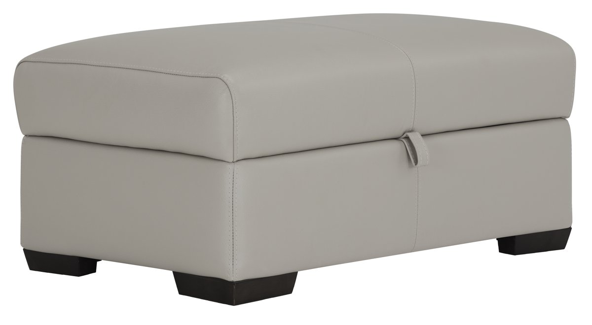 Lucinda Faux Leather Storage Ottoman Bench