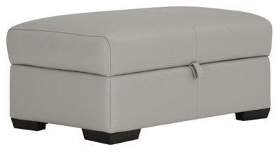 Alessi3 Light Gray Leather u0026 Vinyl Storage Ottoman  sc 1 st  City Furniture & City Furniture: Alessi3 Lt Gray Leather u0026 Vinyl Storage Ottoman