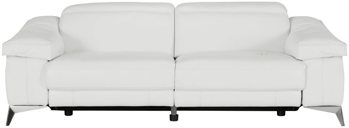 City Furniture Luca White Leather Vinyl Power Reclining Sofa