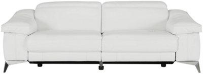 Beautiful Luca White Leather U0026 Vinyl Power Reclining Sofa