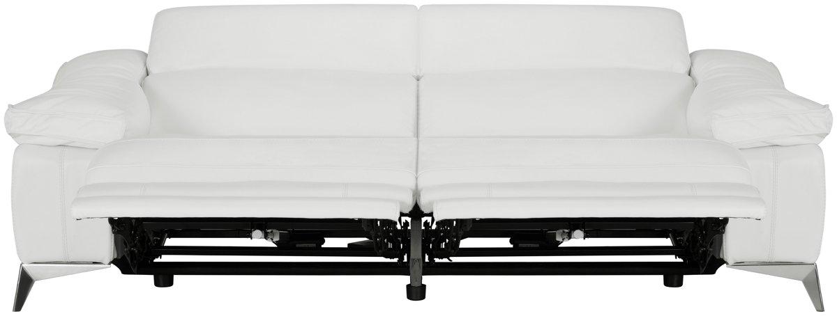 White Leather Power Reclining Sofa Infosofa Co