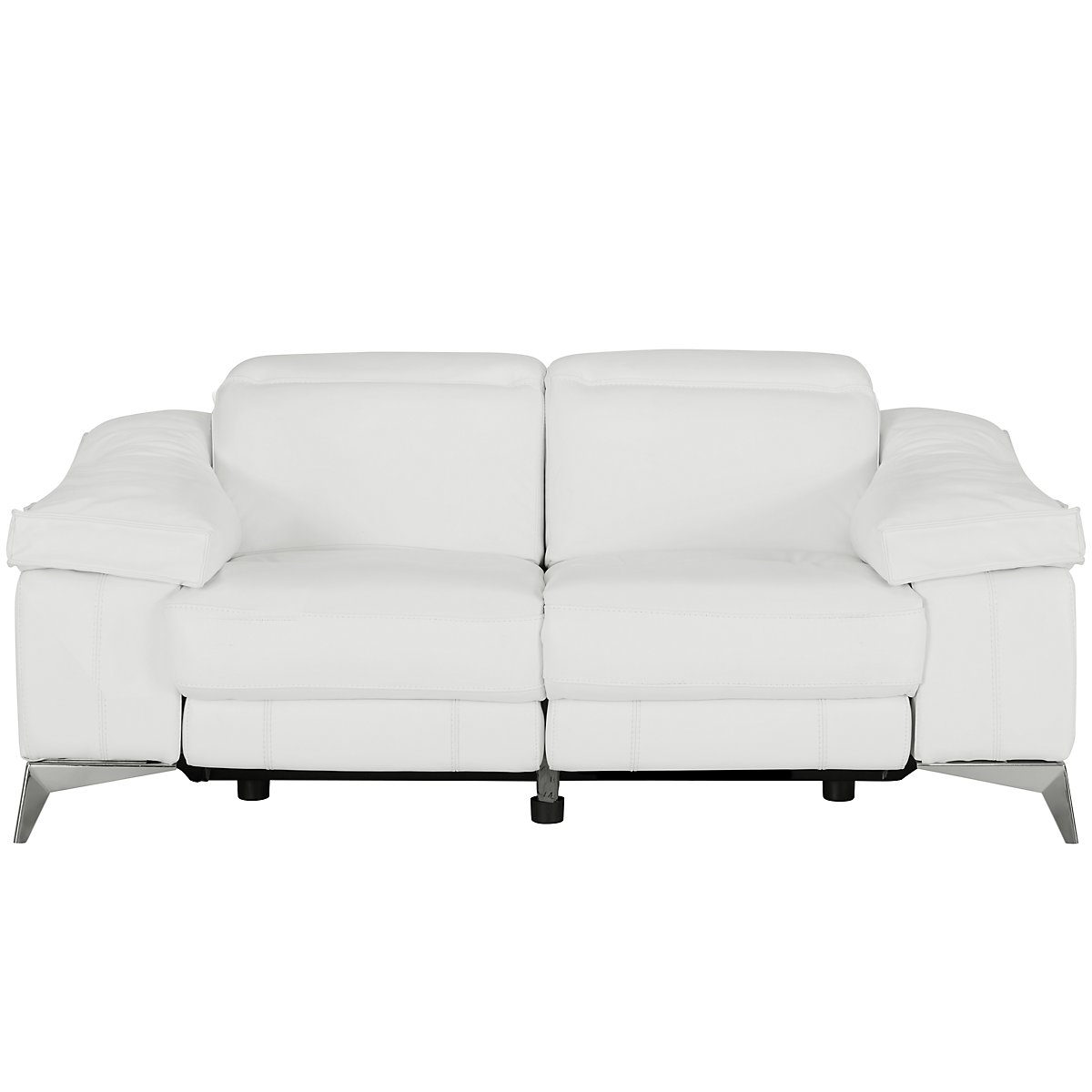 city furniture luca white leather  vinyl power reclining loveseat - luca white leather  vinyl power reclining loveseat