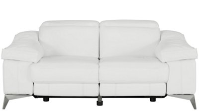 Luca White Leather u0026 Vinyl Power Reclining Loveseat  sc 1 st  City Furniture & City Furniture: Luca White Leather u0026 Vinyl Power Reclining Loveseat islam-shia.org