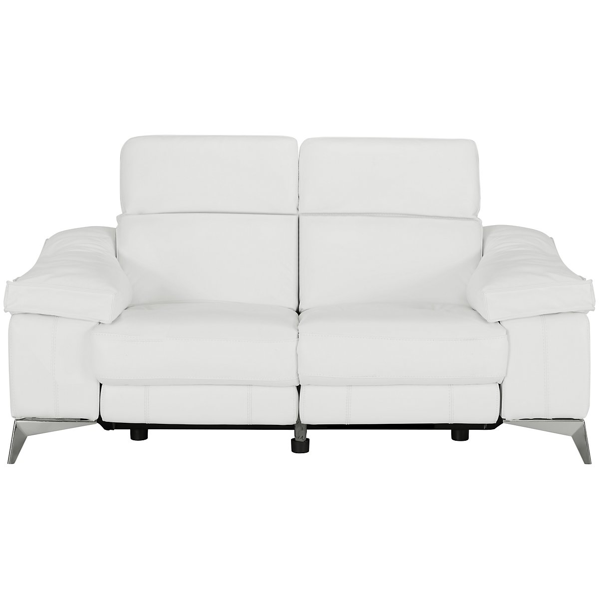 City Furniture Luca White Leather Vinyl Power Reclining