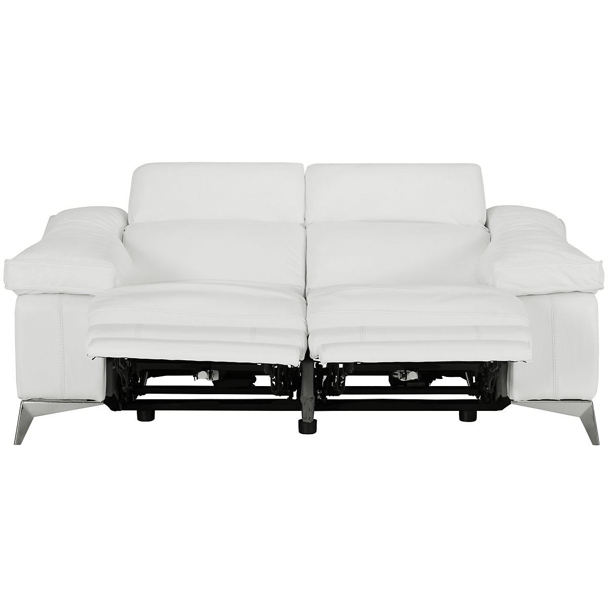 city furniture luca white leather  vinyl power reclining loveseat - luca white leather  vinyl power reclining loveseat view larger