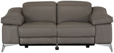 Luca Pewter Leather u0026 Vinyl Power Reclining Loveseat  sc 1 st  City Furniture & City Furniture: Luca White Leather u0026 Vinyl Power Reclining Loveseat islam-shia.org