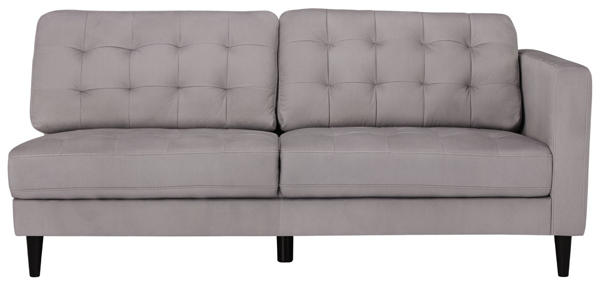 City Furniture Shae Light Gray Microfiber Left Chaise Sectional
