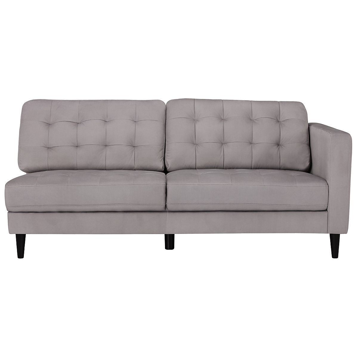 Shae light gray microfiber left chaise sectional living room for Gray microfiber sectional sofa with chaise