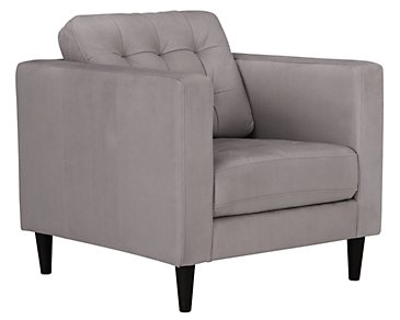 Shae Light Gray Microfiber Chair