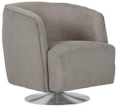 baldwin gray microfiber swivel accent chair
