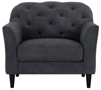 lark blue microfiber chair - Black Leather Loveseat