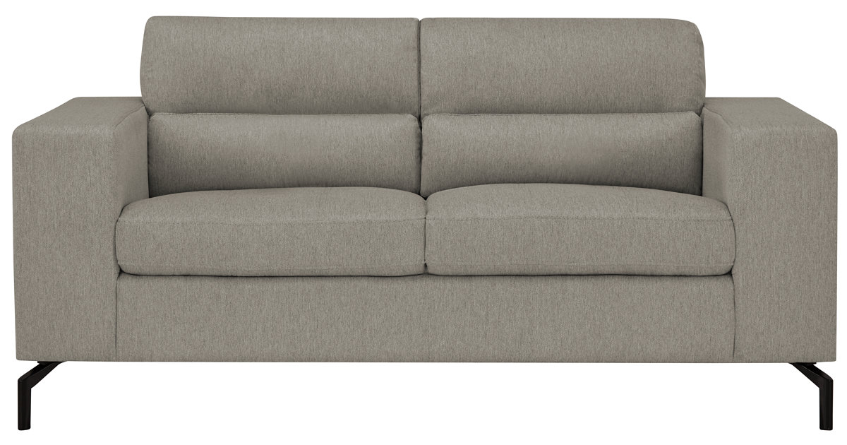 City Furniture: Knox Lt Gray Fabric Loveseat