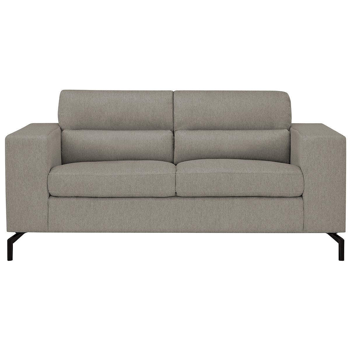 Knox Light Gray Fabric Loveseat