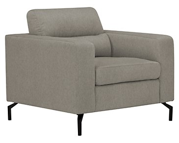 Knox Light Gray Fabric Chair