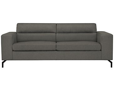 Knox Dark Gray Fabric Sofa