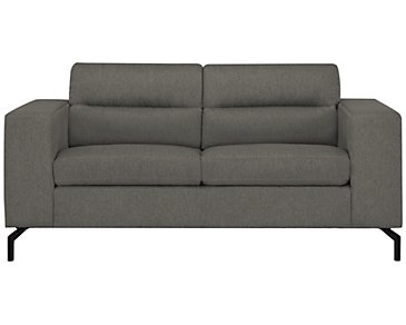 Knox Dark Gray Fabric Loveseat