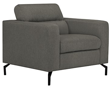 Knox Dark Gray Fabric Chair