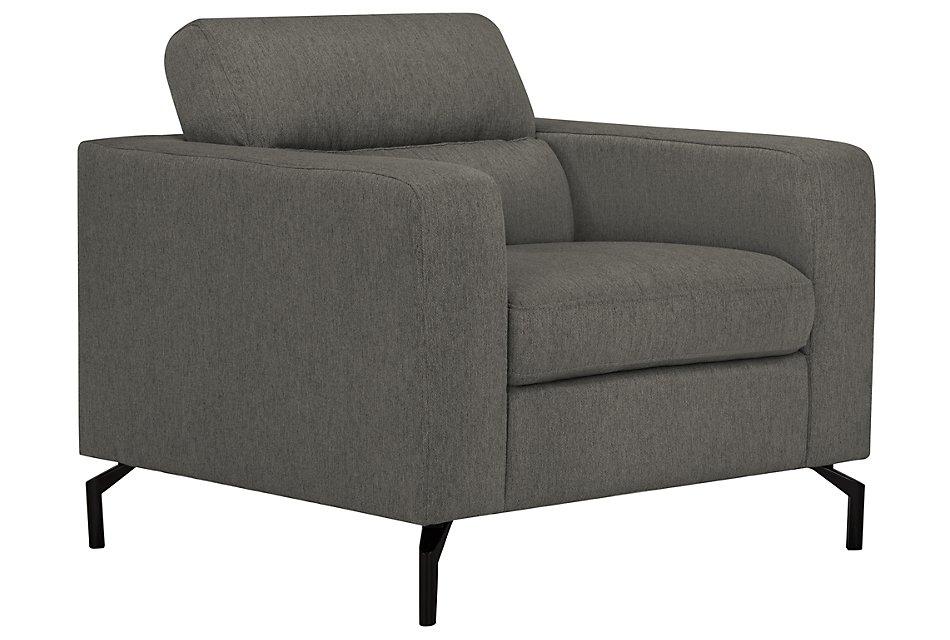 Knox Dark Gray  Fabric Chair
