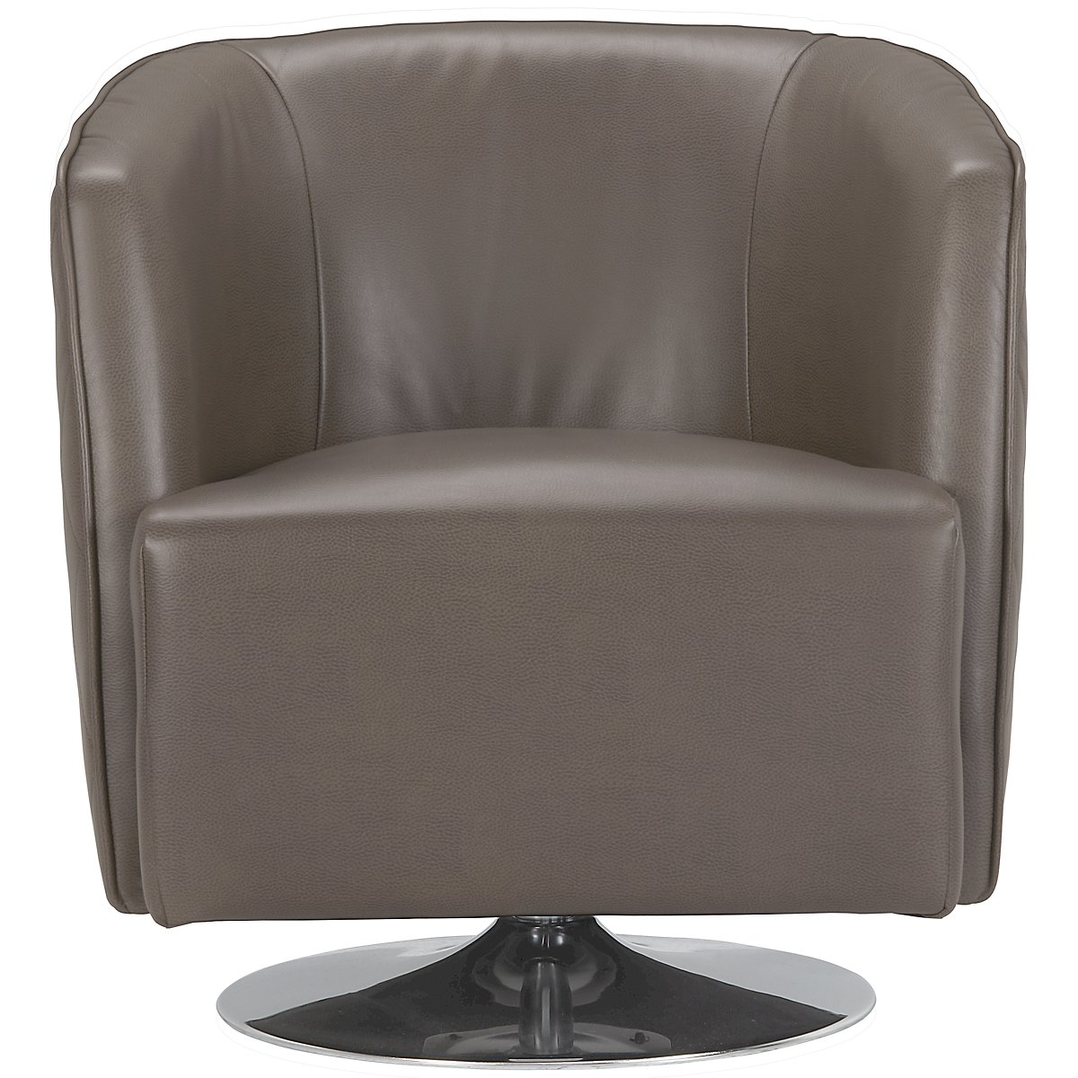 Loki dark gray microfiber swivel accent chair for Swivel chairs living room sale