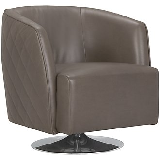 Loki Dark Gray Microfiber Swivel Accent Chair